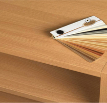 Laminated wood and particle board components